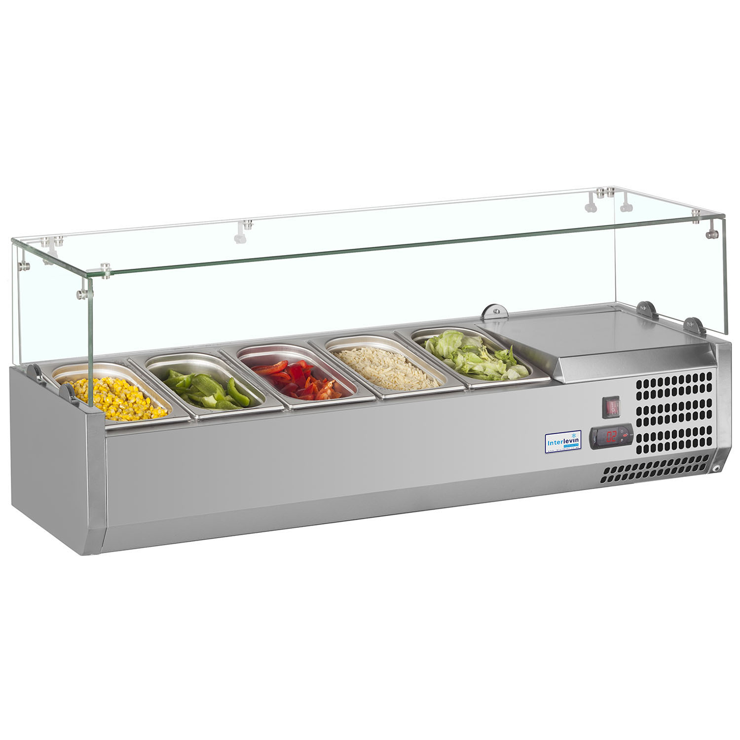 Interlevin VRX1200/330 SS Gastronorm Topping Shelf