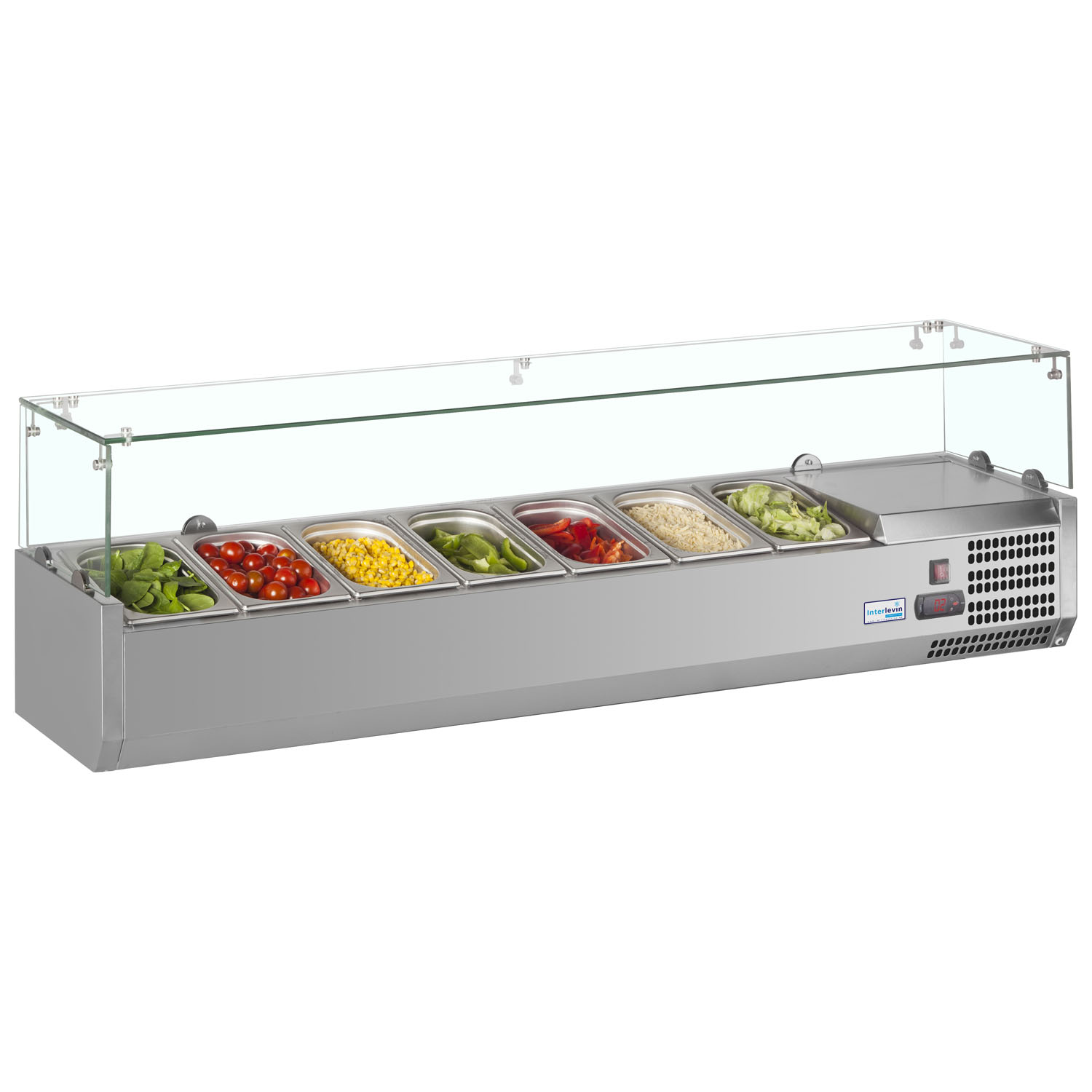 Interlevin VRX1500/330 SS Gastronorm Topping Shelf